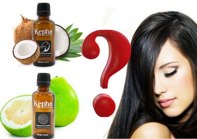 Tinh dầu bưởi và dầu dừa giúp dưỡng tóc, trị rụng tóc