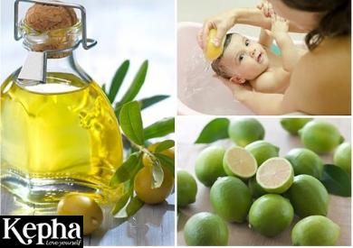 Cách trị cứt trâu cho trẻ sơ sinh với tinh dầu oliu