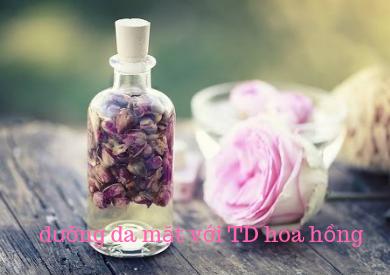 Dưỡng da mặt mùa hanh khô với tinh dầu hoa hồng
