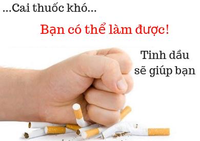 Cai thuốc lá bằng tinh dầu ĐƠN GIẢN & NHANH CHÓNG