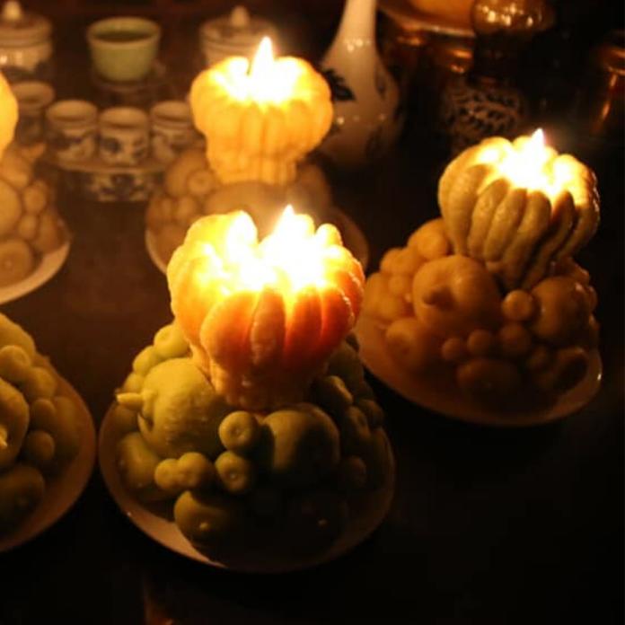 Nến ngũ quả trầm hương