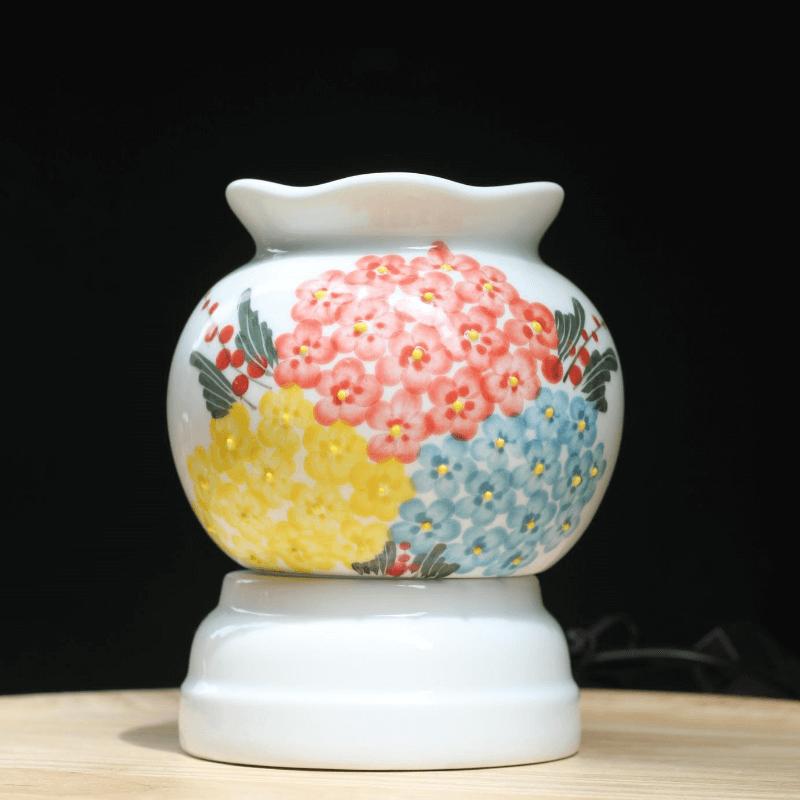 Đèn xông hoạ tiết hoa cẩm tú cầu