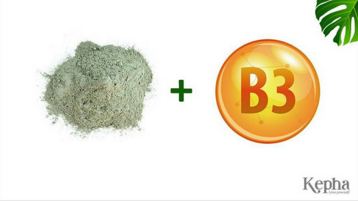 bùn khoáng xanh kết hợp với vitaminB3