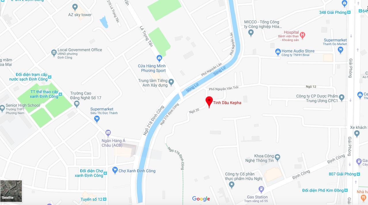 Địa chỉ Tinh Dầu Kepha