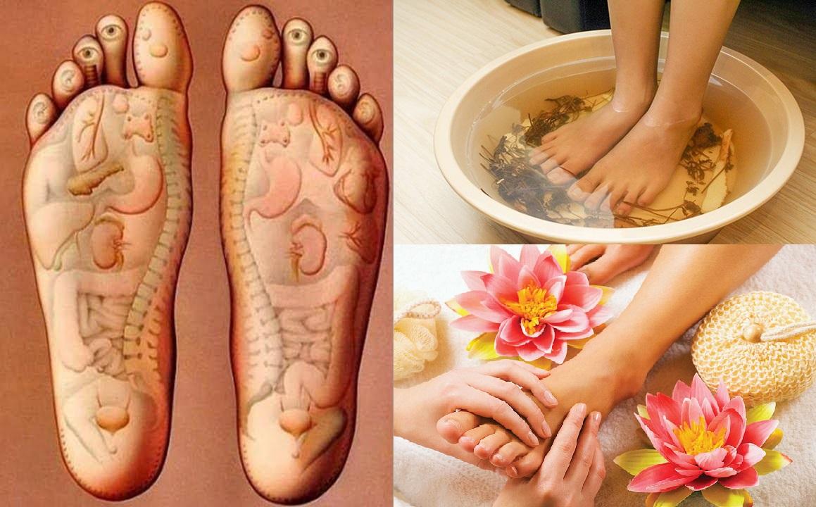 ngâm chân với tinh dầu