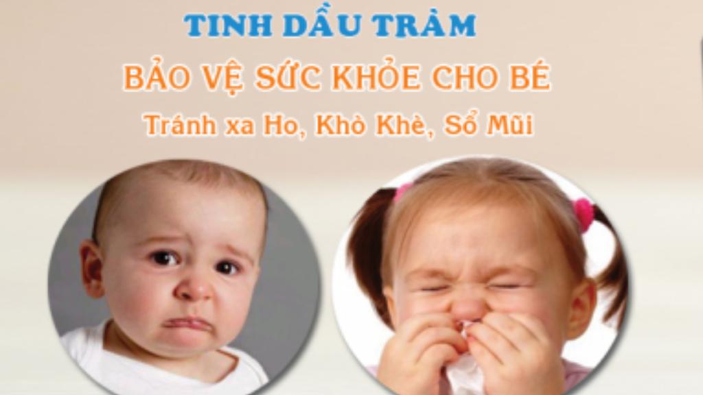 tinh dầu tràm bảo vệ sức khỏe bé